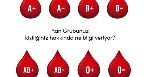 Kan grupları ve bilgiler (Kişilik bilgileri) - Tıbbı Nebi