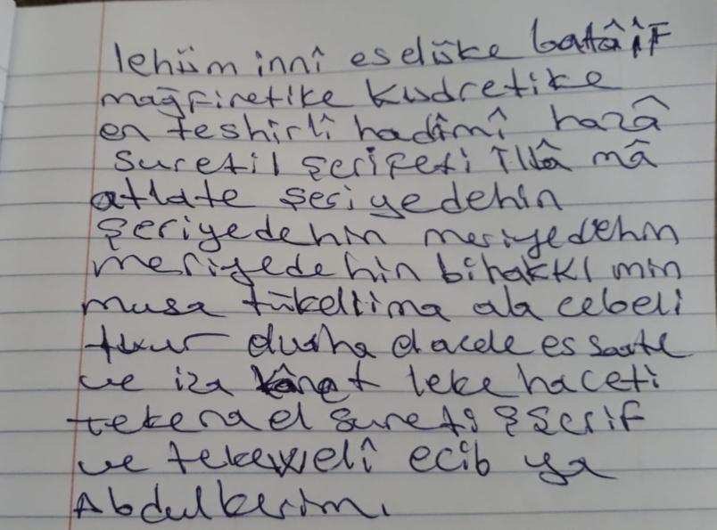 Bunun türkçe okunuşu nasıl?