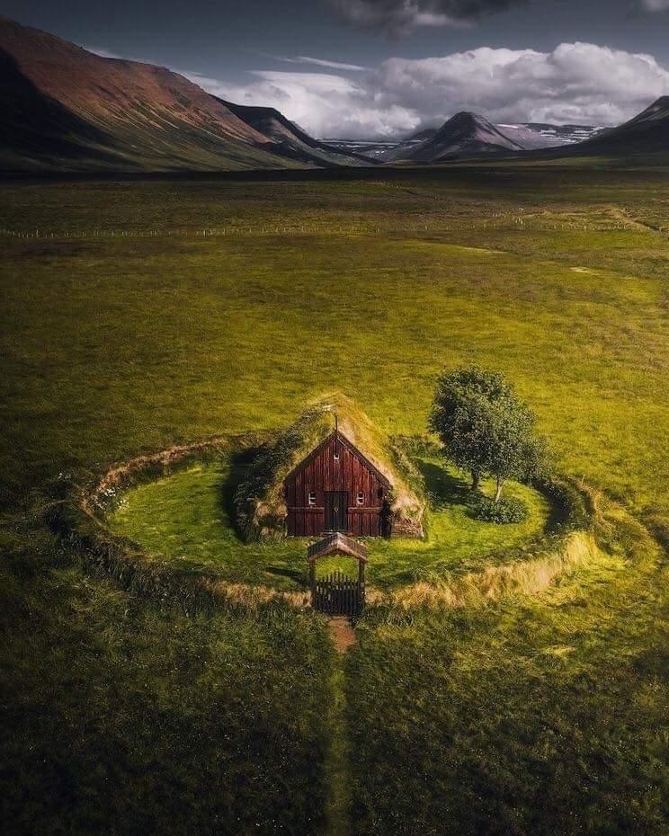 izlandada bir ev..