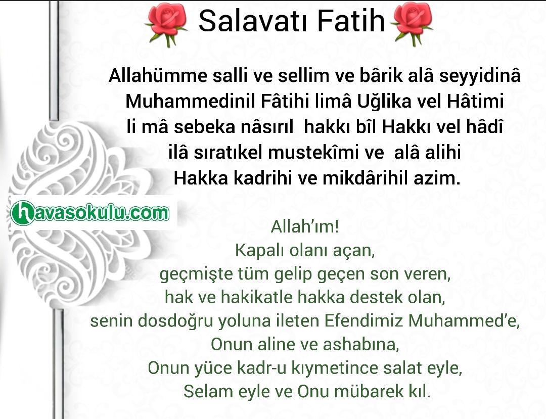 Salavatı Fatih'in Mübarek Sırlı Duası